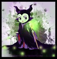 Chibi Maleficent by rebenke