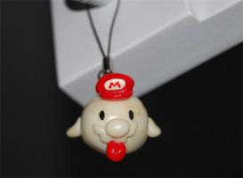Fluorescent Mario Boo charm by knil-maloon