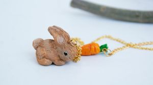 Bunny Necklace by polgabice