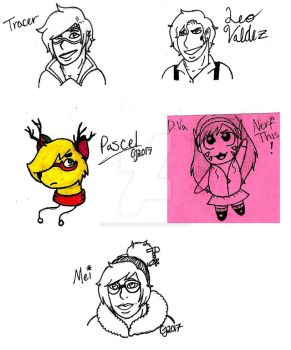 Headshot Doodles by MasterofMacabre