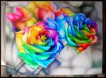 Rainbow Roses by CakeKaiser