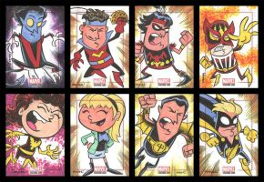 BRONZE AGE sketchcards 033-040 by thecheckeredman