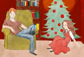 By the Christmas Tree by MrsRonaldWeasley
