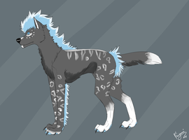 Adoptable wolf canine blue OPEN by Seiyami