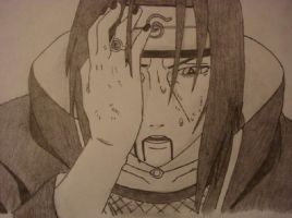 Exhausted Uchiha Itachi by DrawingforFUN24