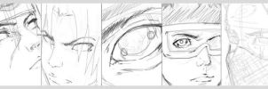 Revised Team Sharingan Sketch by KaozCore