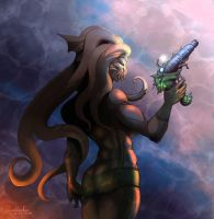 Octana with laternfishgun by Quadrackss