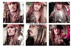 6 icons jack sparrow by Dinosaursattack