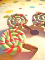 Lollipop Brooches by Cinnamonster