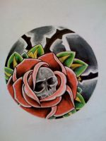 Rose + Skull by Kirzten