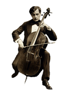 Vintage Cellist cut out by SolStock