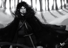 Jon Snow sketch by faruuk-sama