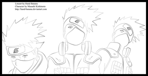 The 3 sides of Kakashi Lineart by Hand-Banana
