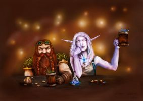 The Dwarf and the Druid by Eggstirminate