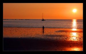 Person, Boat, Sunset by Gilly71