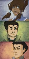Korra Postcards by peahat