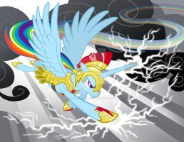 Alicorn Rainbowdash by SapphireGamgee
