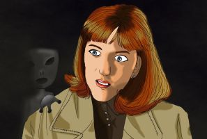 Scully meets an alien. by alicelights