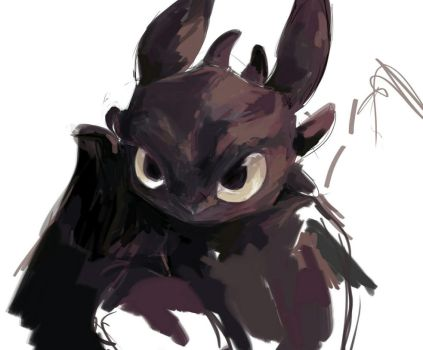 Sketching toothless by Dreamsoffools