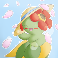 Bellossom Sun Hat by REPLAYMASTEROFTIME