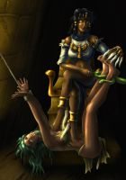 Necra - Egyptian Slave Tickle Redux by PsylisiaDragoon