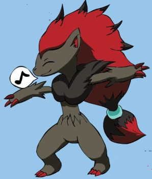 Happy Zoroark by MrKeybladeMaster1992