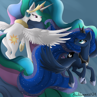 Celestia And Luna - Forever synced by Balleman