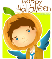 Castiel. The pumpkin by M0nzteer