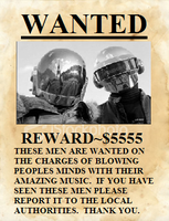 WANTED DAFT PUNK by kizzfan911