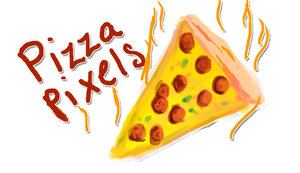 Pizza Pixels for *gdflgum by Astrikos