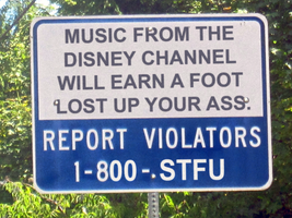 No Disney Channel Music Sign by MrAngryDog