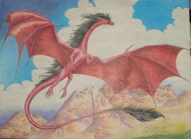 Red Dragon Flying by IsilanaRith
