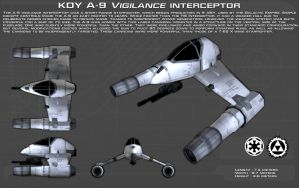 KDY A9 Vigilance starfighter ortho [New] by unusualsuspex