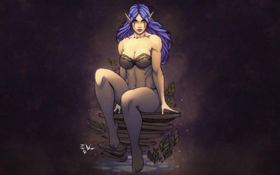 Night Elf Character Commission Hi-Resolution Scars by NeighborhoodNobody