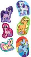 MLP: Stickers are magic by WitchZilla