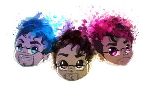 Markiplier, Blueplier and Pinkplier by CKibe
