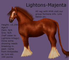 Lightons- Majenta now only 50 points!!!!!! by Gingerpony