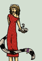 Two Lemurs and a Dress by zepIyn