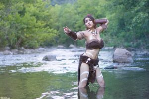 Nidalee (League of Legends) by Risa Chan by piggy-bunny