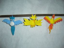 Legendary Bird Trio Bell Plush by Sexual-Pancake