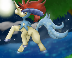Pokemon: Keldeo by Ink-Leviathan