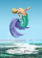 Surfacing Merboy by TWStatonGallery