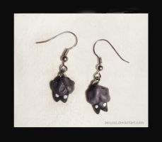 little bats earrings by Aerusss