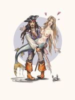 Pirate and  mermaid. by Bormoglot