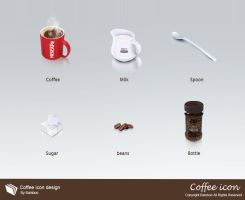 Coffee icon design by booui