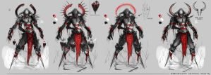 Sketches for Dominance War V by johnsonting