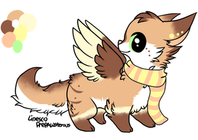 CLOSED - AUCTION - Winged FoxAdoptable 144 by LeaAdoptables