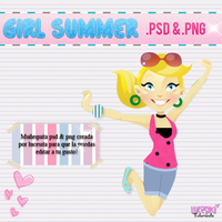 Girl Summer~PSD y PNG by LucesitaEditions