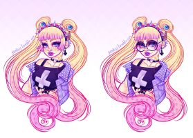 Pastel Goth Usagi by CamiFortuna