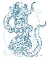 Steampunk Ursula layout Sketch by NoFlutter